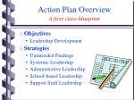 action plan overview a first class blueprint