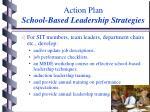 action plan school based leadership strategies