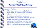 findings support staff leadership14