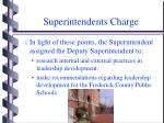 superintendents charge