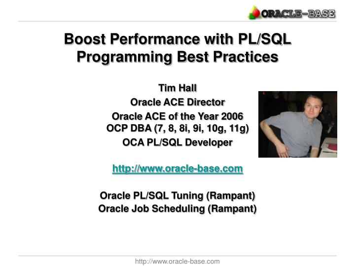 boost performance with pl sql programming best practices n.