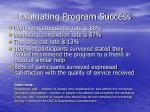 evaluating program success