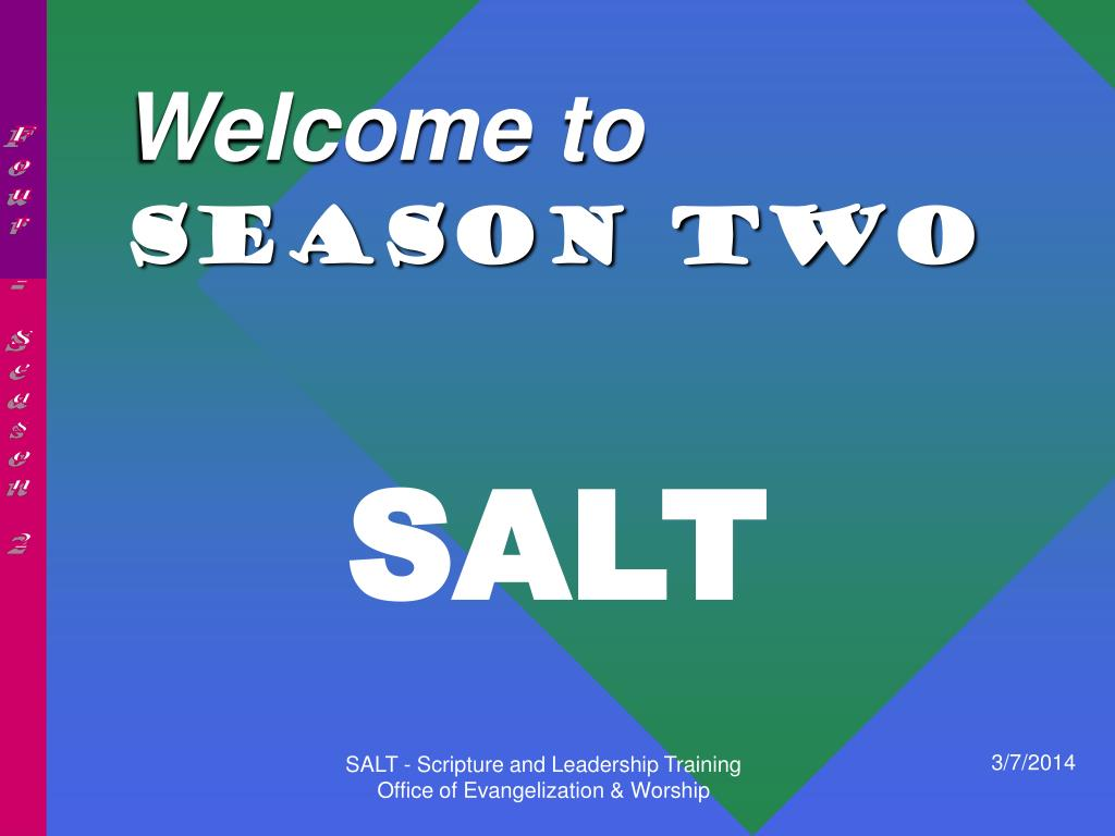 welcome to season two l.