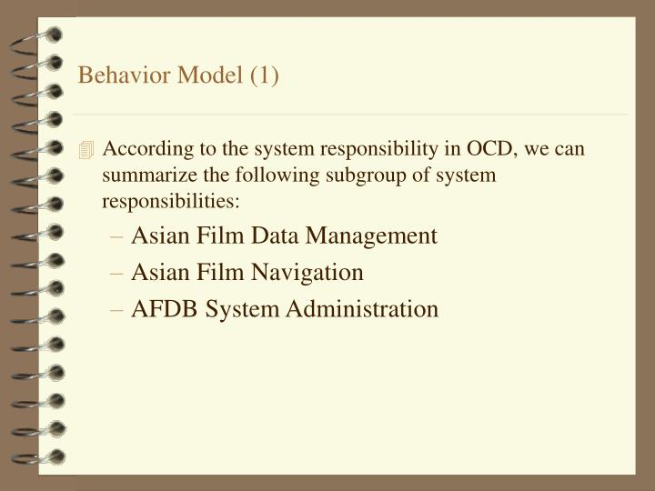 Behavior Model (1)
