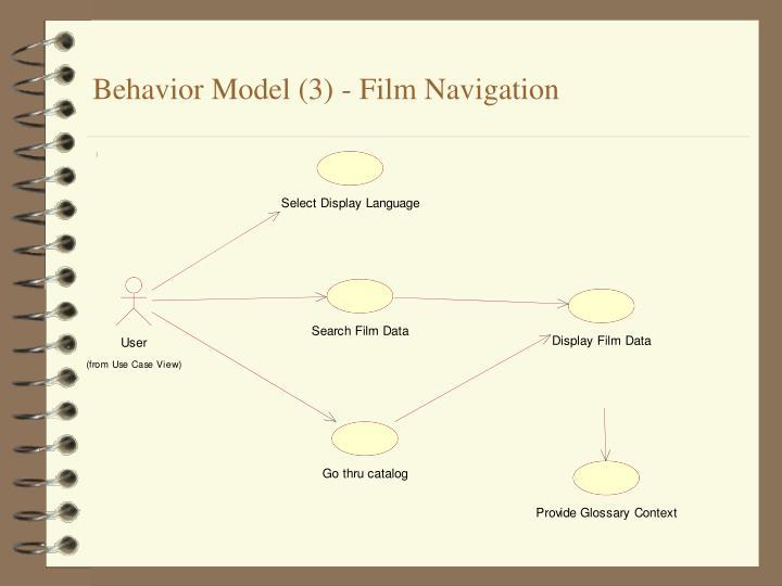 Behavior Model (3) - Film Navigation