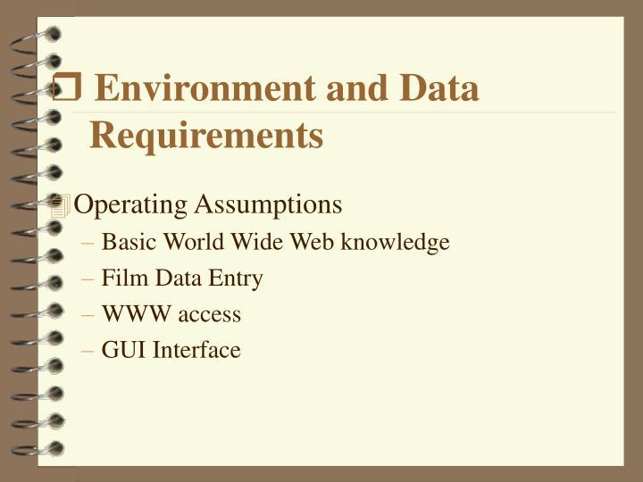 Environment and Data