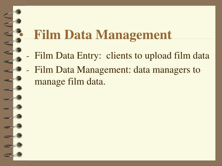 Film Data Management