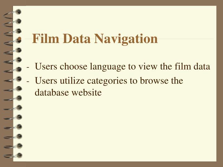 Film Data Navigation