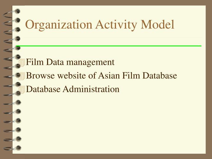 Organization Activity Model