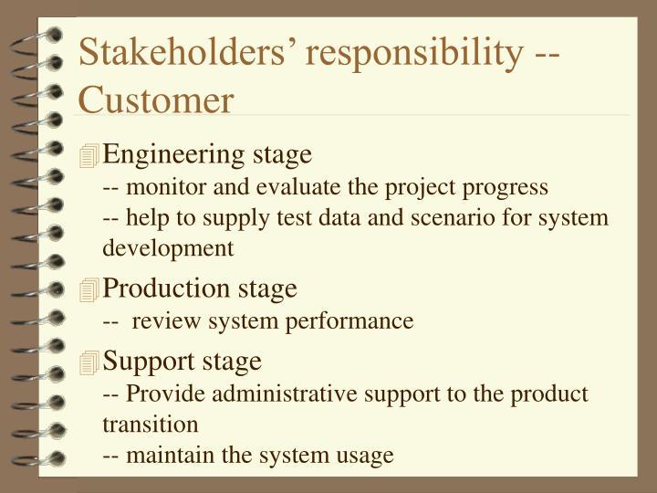 Stakeholders' responsibility -- Customer