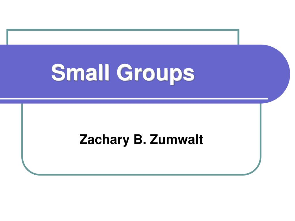 small groups l.