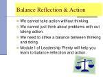 balance reflection action