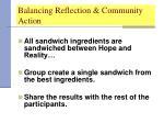 balancing reflection community action30
