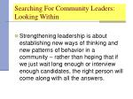 searching for community leaders looking within25