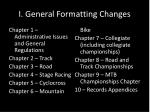 i general formatting changes