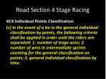 road section 4 stage racing