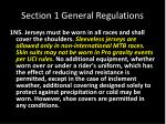 section 1 general regulations6