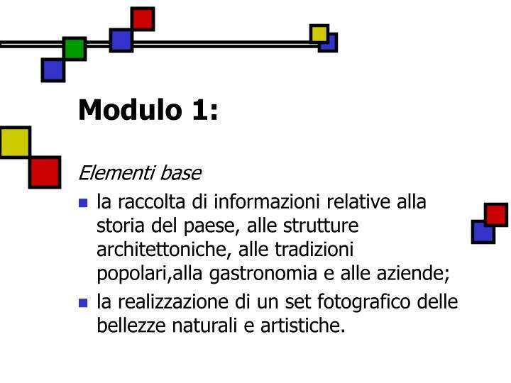 Modulo 1:
