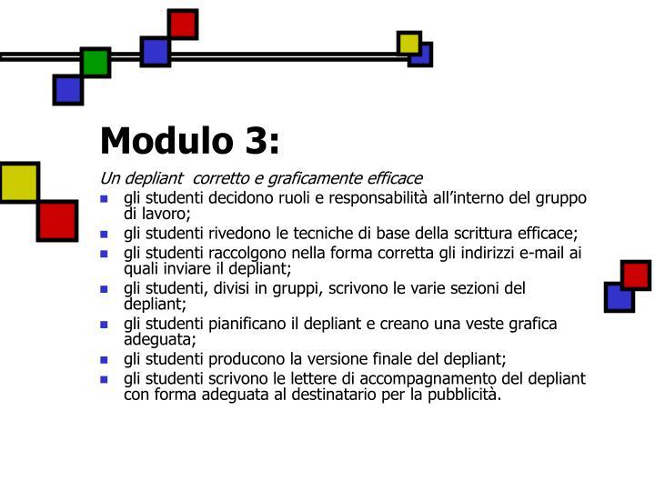 Modulo 3: