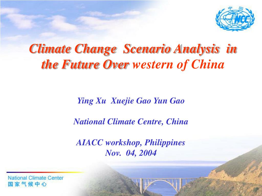 climate change scenario analysis in the future over western of china l.