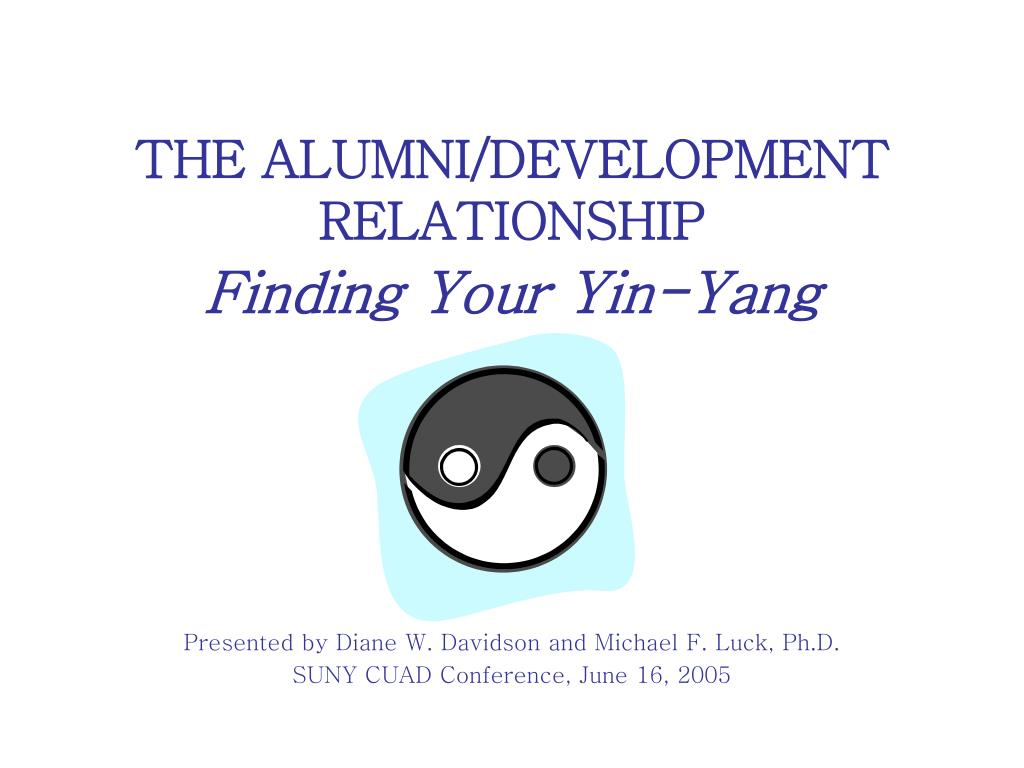 the alumni development relationship finding your yin yang l.