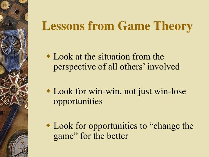 Lessons from game theory