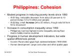 philippines cohesion