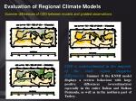 evaluation of regional climate models15
