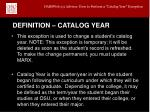 definition catalog year