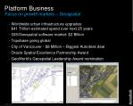 platform business focus on growth markets geospatial