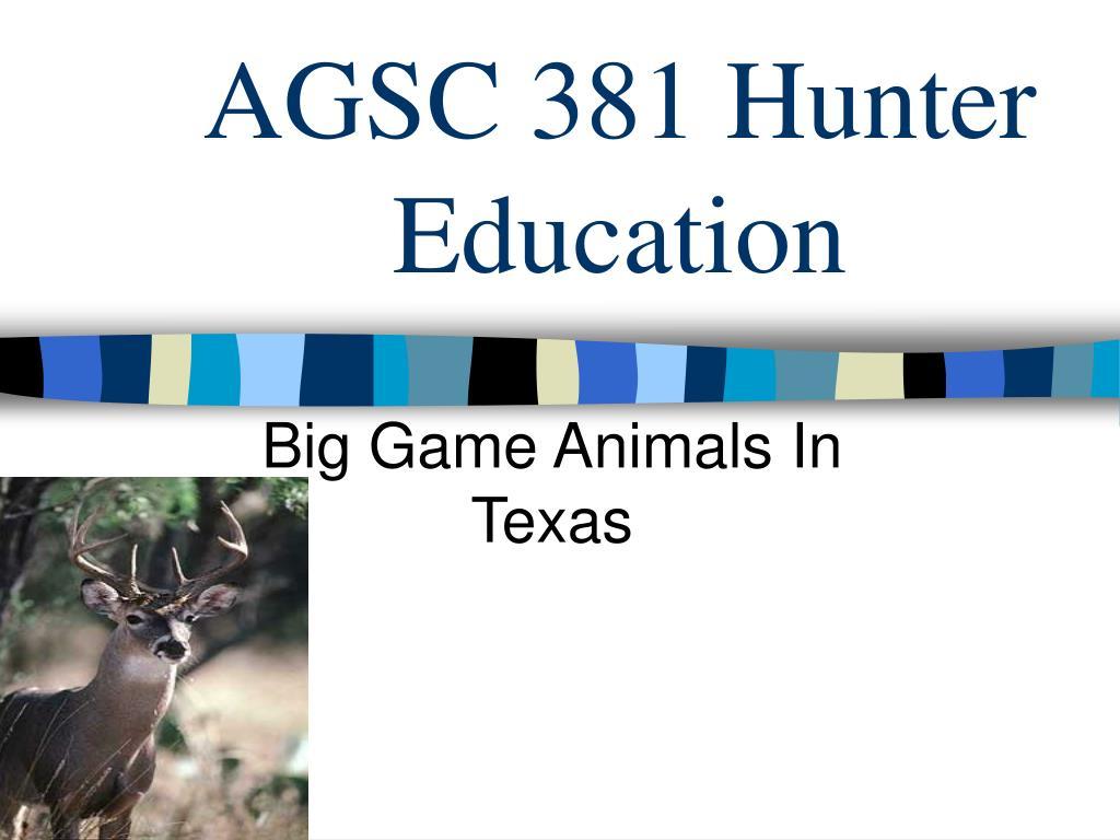 agsc 381 hunter education l.