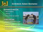 common asian gestures