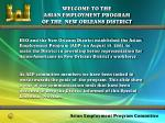 welcome to the asian employment program of the new orleans district2