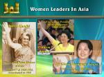 women leaders in asia