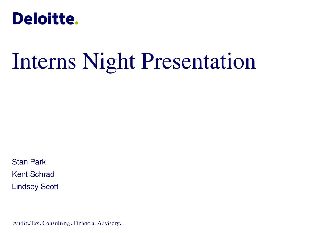 interns night presentation l.