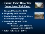 current policy regarding protection of fish flows