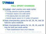 fall sport changes