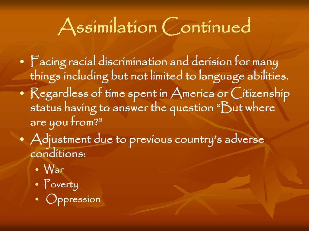 oppression and discrimination Background: forms of racism and racial discrimination because of whites who had nothing to do with either slavery or the oppression of.