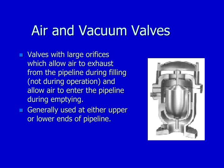 Air and Vacuum Valves