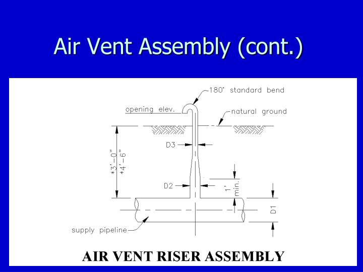 Air Vent Assembly (cont.)