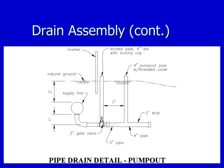 Drain Assembly (cont.)