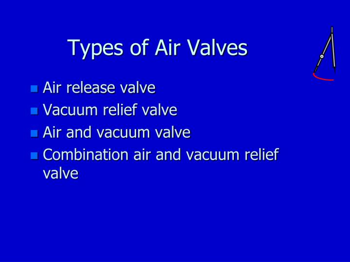 Types of Air Valves