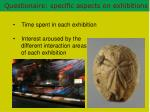 questionaire specific aspects on exhibitions