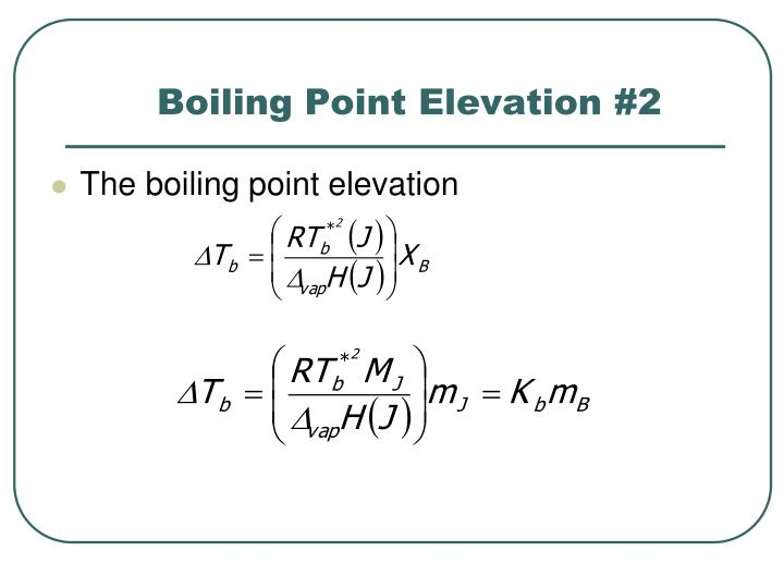 Boiling Point Elevation #2