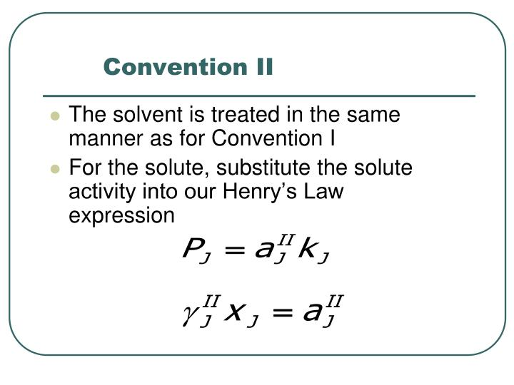 Convention II