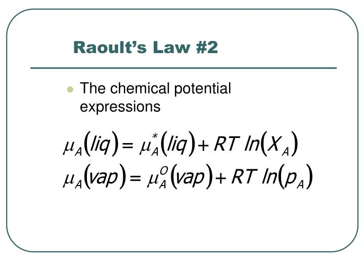 Raoult's Law #2