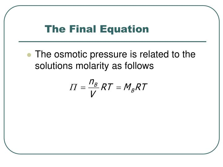 The Final Equation
