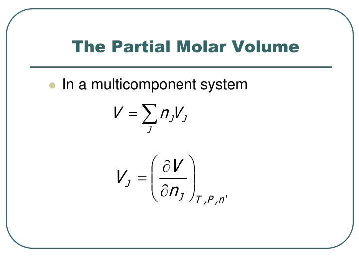 The Partial Molar Volume
