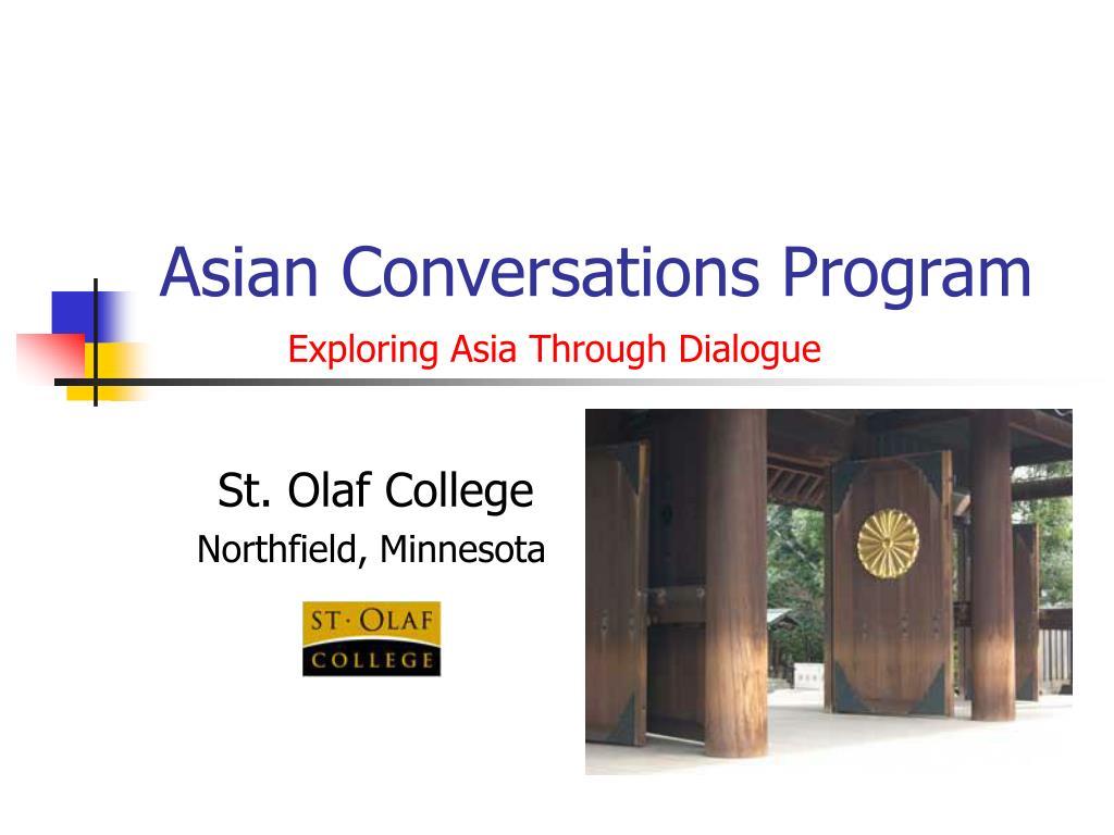 Asian Conversations Program