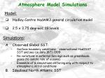 atmosphere model simulations